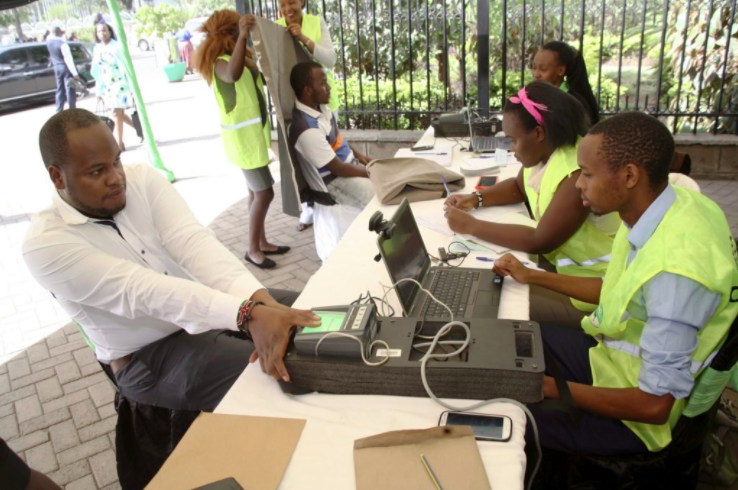 Voter registration in Nairobi in January 2017.